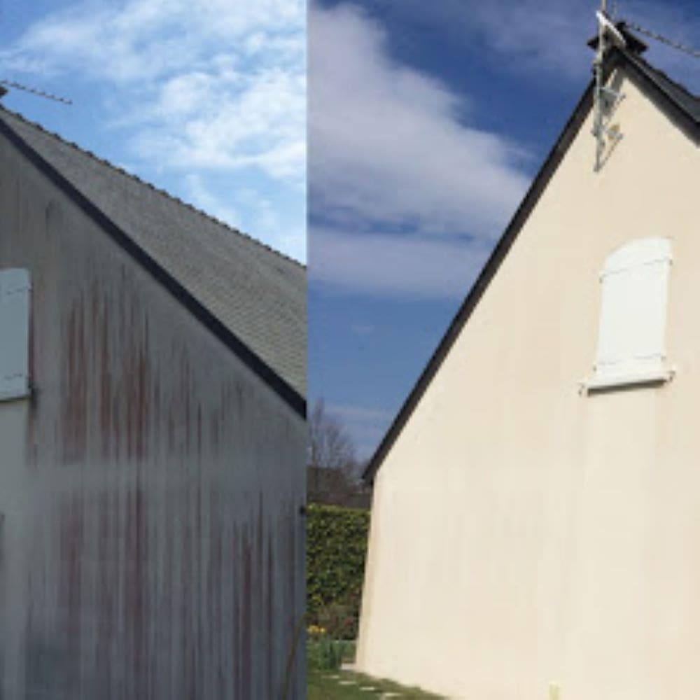Nettoyage facade avant apres hulluch 1